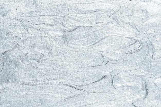 Pincelada de pintura de aceite de plata con textura