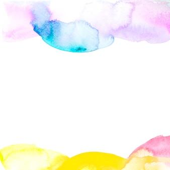 Pincelada de pintura en el borde de fondo blanco