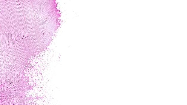 Pincelada de sombra de pintura púrpura suave