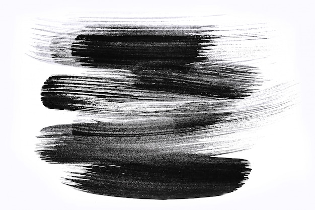 Pinceladas abstractas y salpicaduras de pintura sobre papel