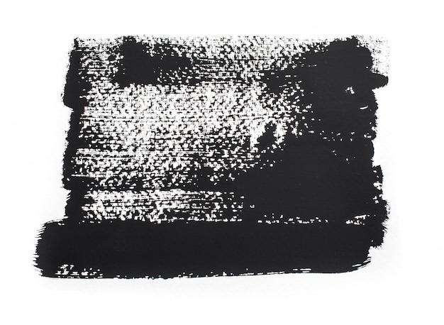 Pinceladas de tinta negra