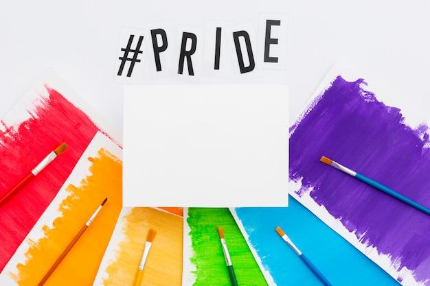 Pinceles coloridos del día feliz del orgullo mundial