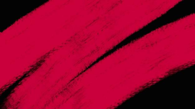 Pinceles rojos abstractos de movimiento, fondo colorido grunge. estilo de ilustración 3d elegante y de lujo para plantilla hipster y acuarela