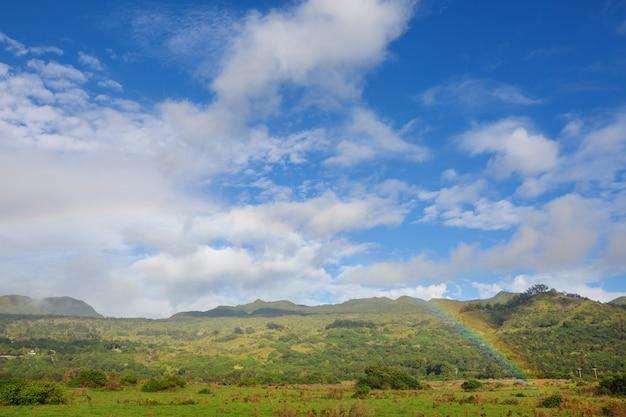 Pintoresca vista de la isla de hawaii