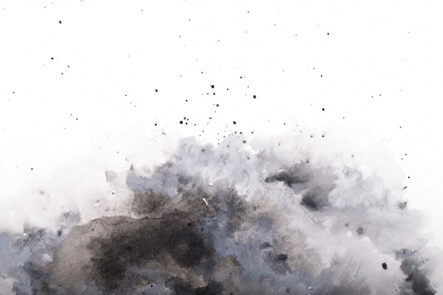 Pintura abstracta acuarela gris