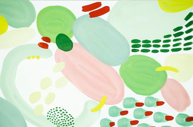 Pintura abstracta roja y verde.