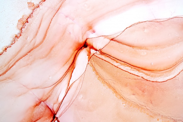 Pintura abstracta de tinta de alcohol, foto macro
