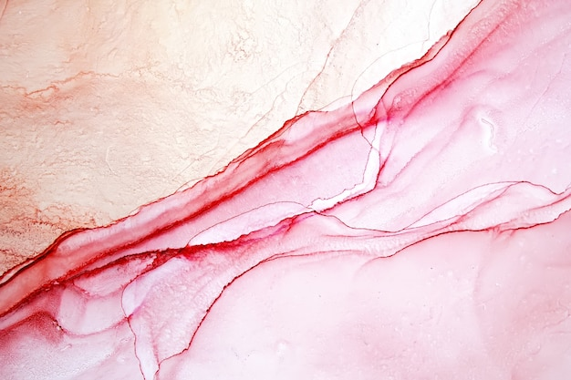 Pintura abstracta de tinta de alcohol