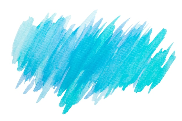 Pintura acuarela azul