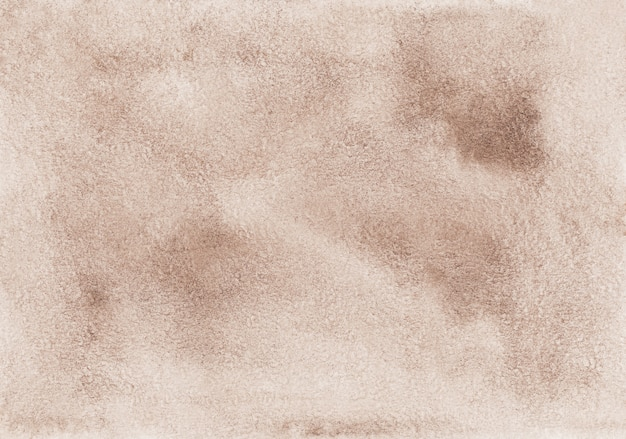 Pintura acuarela fondo marrón claro. superposición de color topo. viejo fondo de pergamino pintado a mano.