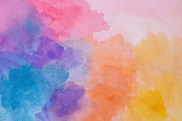 Pintura acuarela plana sobre papel