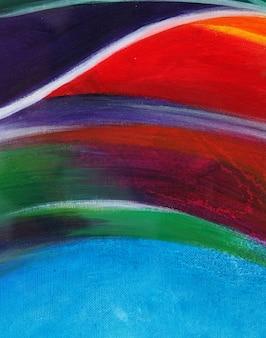Pintura al óleo abstracta colorida