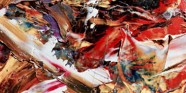Pintura al óleo de colores de fondo abstracto sobre lienzo