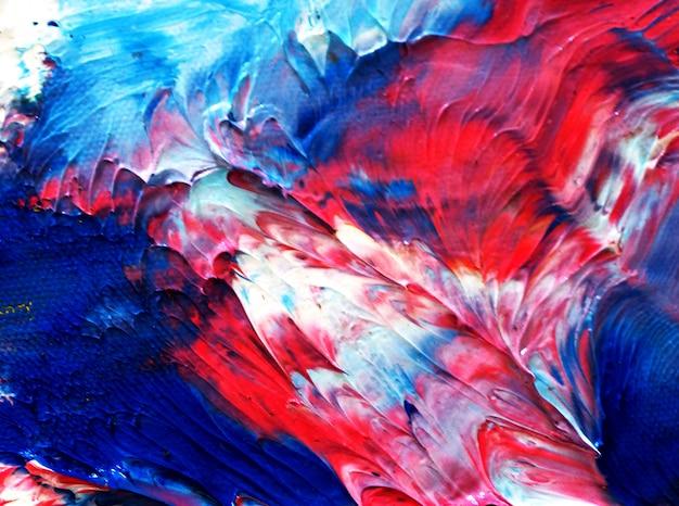 Pintura al óleo colorida textura abstracta de varios colores.