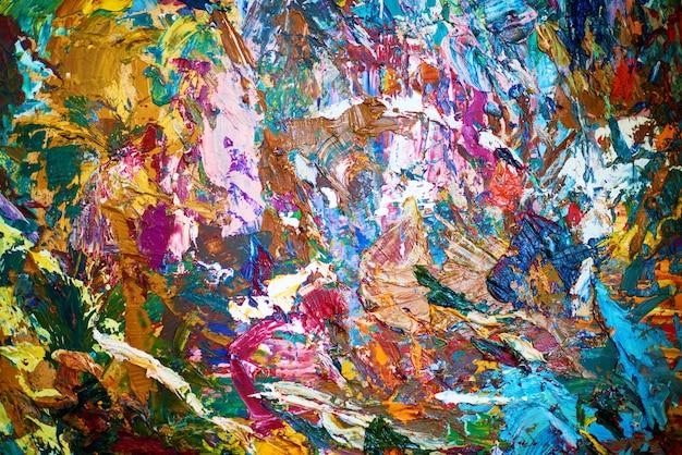 Pintura al óleo colorida