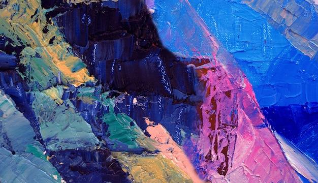 Pintura al óleo sobre lienzo de fondo abstracto.