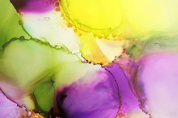Pintura colorida de la tinta del alcohol
