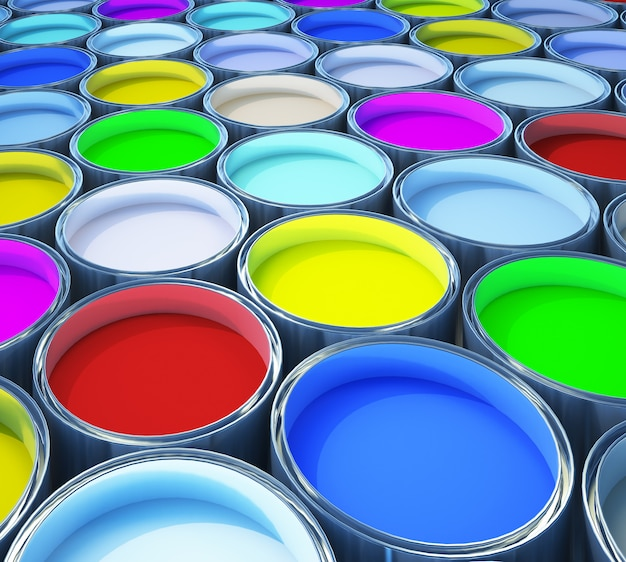 Pintura colorida