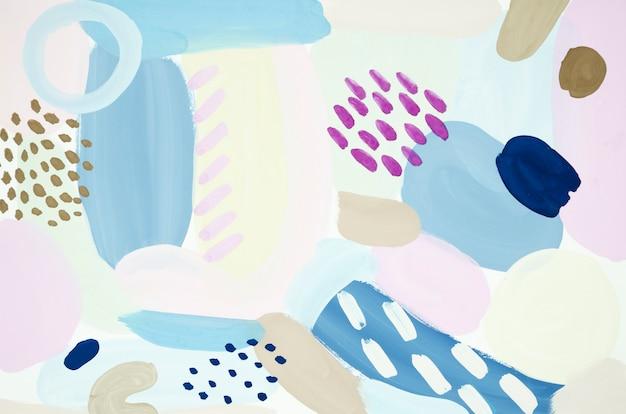 Pintura creativa con acrílicos.