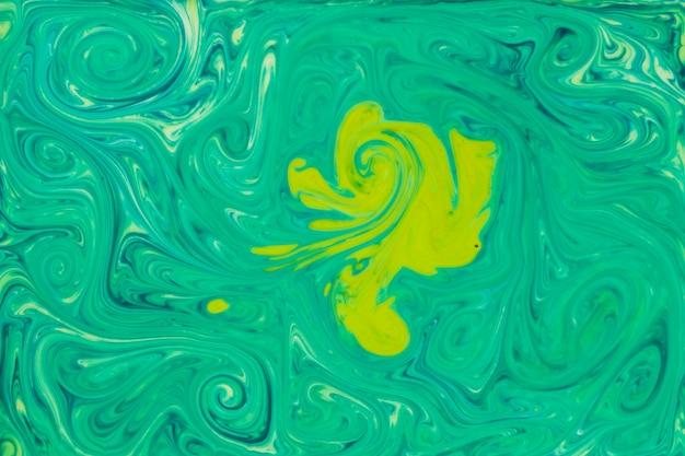 Pintura fluida abstracta pintura verde textura arte