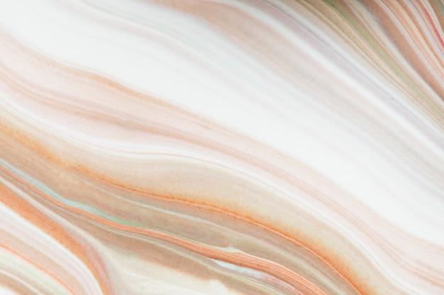 Pintura fluida naranja mezclada