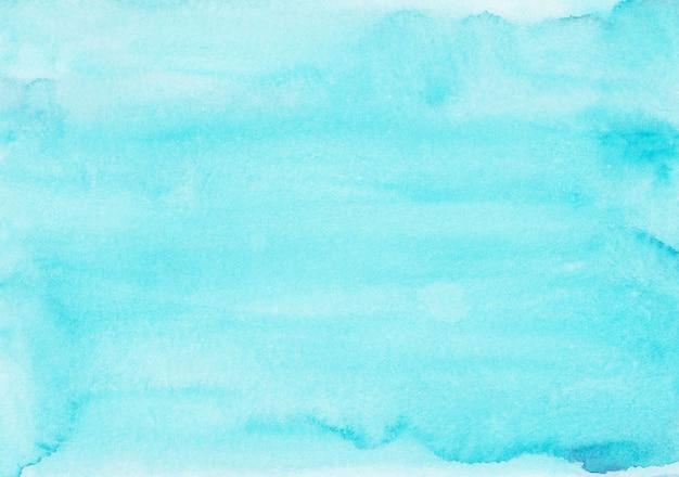 Pintura de fondo azul cian claro acuarela.