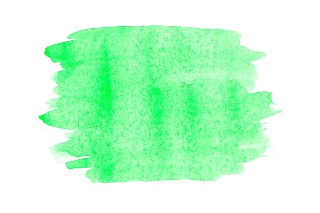 Pintura de la mano del arte abstracto de la acuarela en fondo blanco aislado. fondo de acuarela.