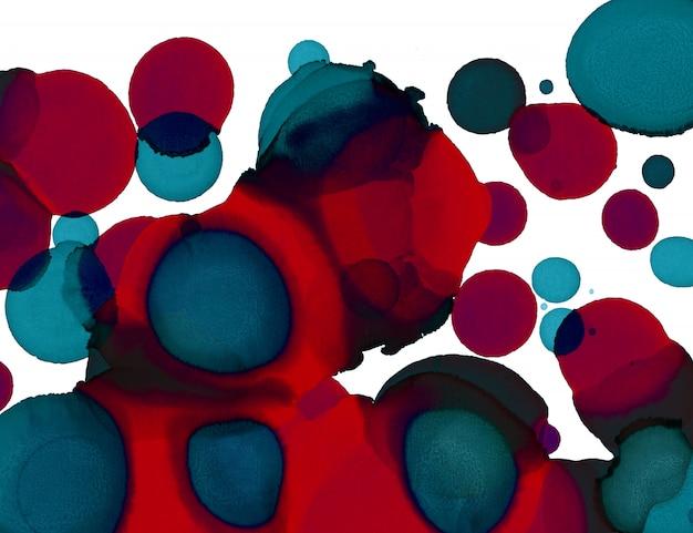 Pintura de la mano de textura círculos abstractos formas de fondo. pintura abstracta de alcohol. arte contemporáneo moderno