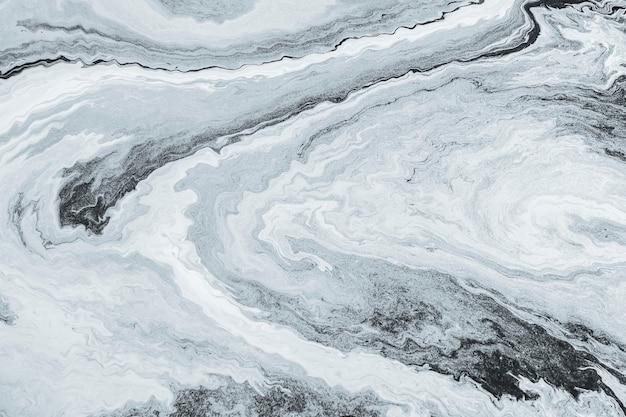 Pintura de marmoleo de arte fluido gris con textura