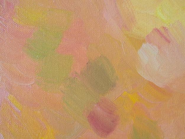 Pintura minimalista con colores pastel.