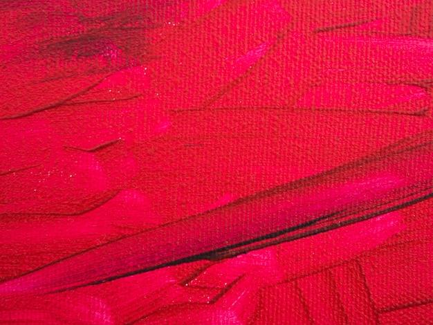 Pintura minimalista con fondo rojo.