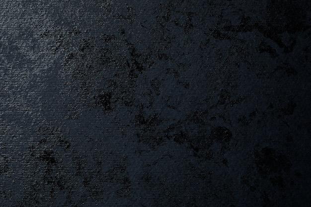 Pintura negra abstracta sobre papel texturizado negro