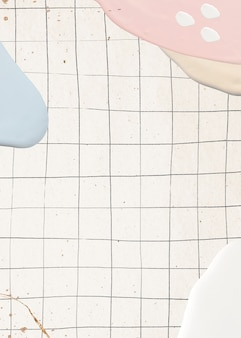 Pintura pastel abstracta en cuadrícula