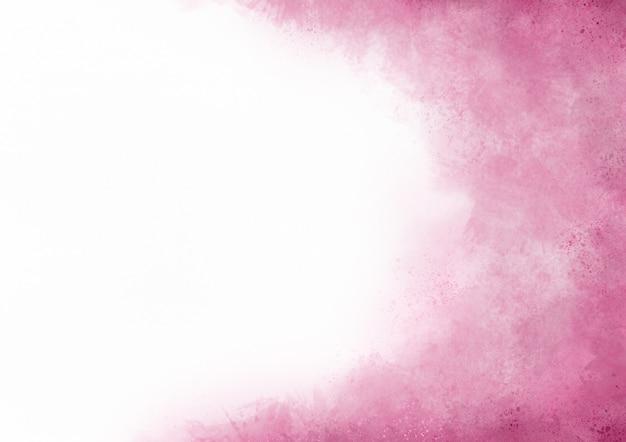 La pintura rosa acuarela abstracta se desvanece salpica fondo de tinta sobre papel blanco con espacio de copia