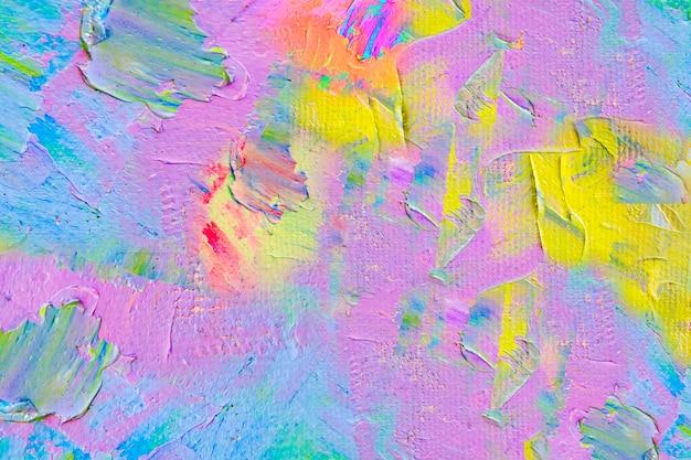 Pintura sobre lienzo, arte abstracto al óleo original y color acrílico.