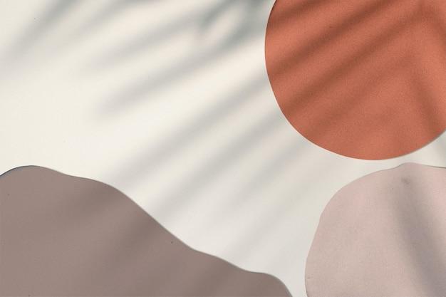Pintura de tono tierra con diseño de fondo de sombra de hoja