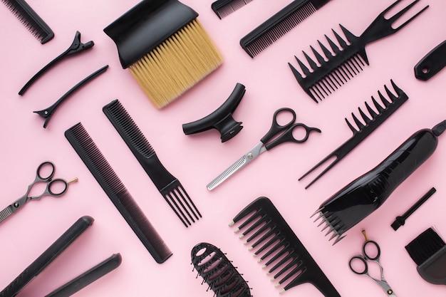 Pinzas para el cabello y peines planos