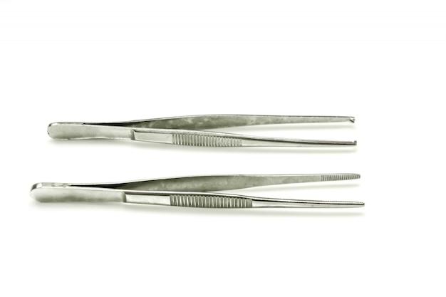 Pinzas quirúrgicas aislar