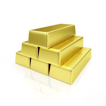 Pirámide de barras de oro