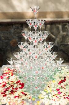 Pirámide de copas, cereza en copa