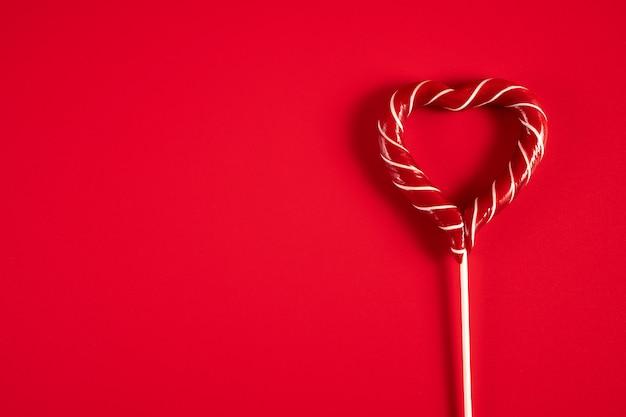 Piruleta en forma de corazón