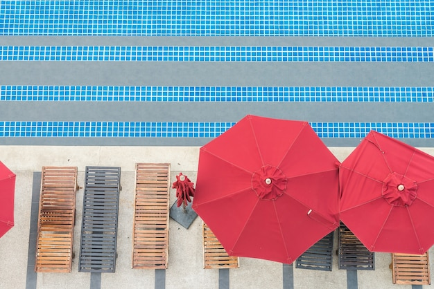 Piscina paraguas