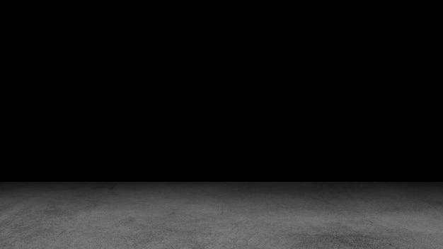Piso de cemento negro y fondo de pared, oscuridad