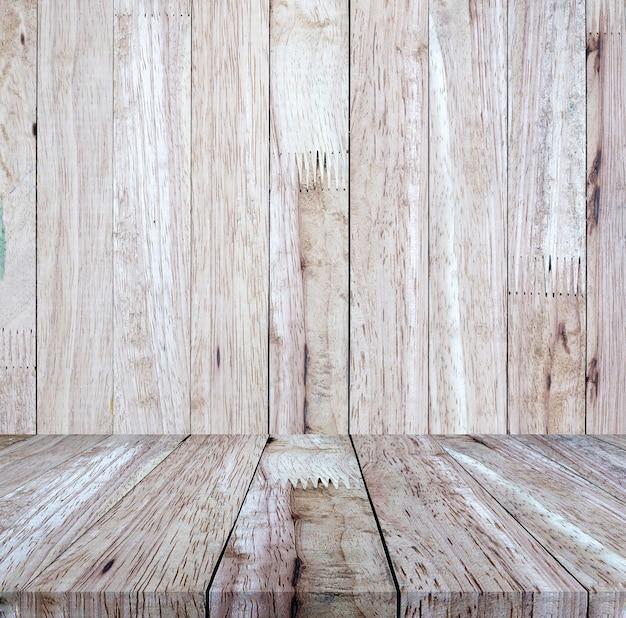 Piso de madera marrón vintage con fondo de pared de madera marrón, para