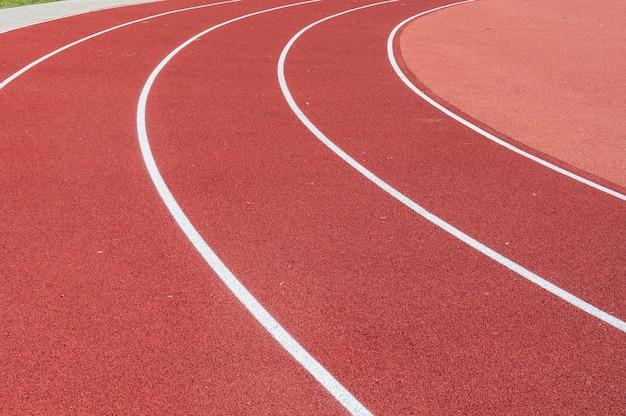 Pista de atletismo para el paisaje de los atletas.