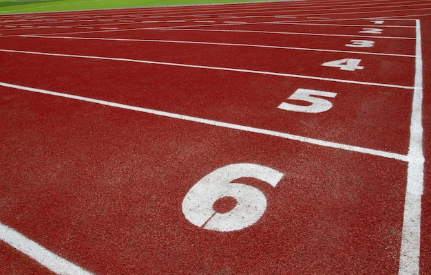 Pistas de atletismo en el estadio