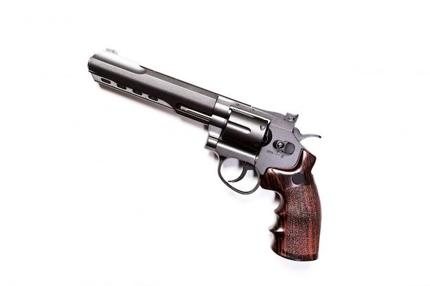 Pistola de mano aislada en blanco