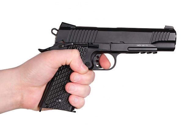 Pistola en mano