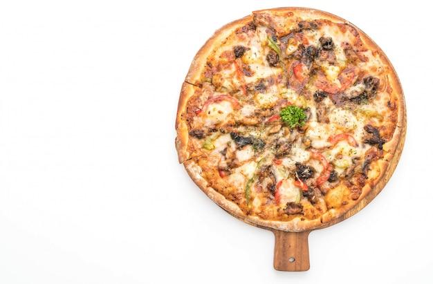 Pizza de cerdo a la barbacoa