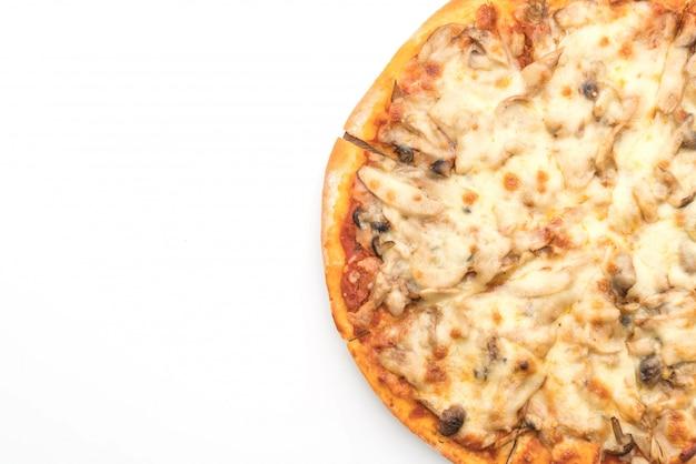 Pizza de champiñones con salsa de miso